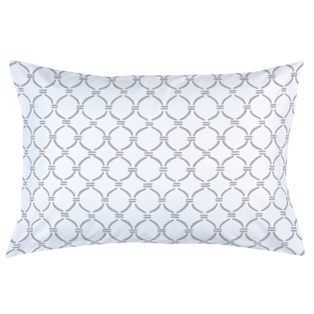 Product image for Silver Gray Lattice Circles Pillow Case