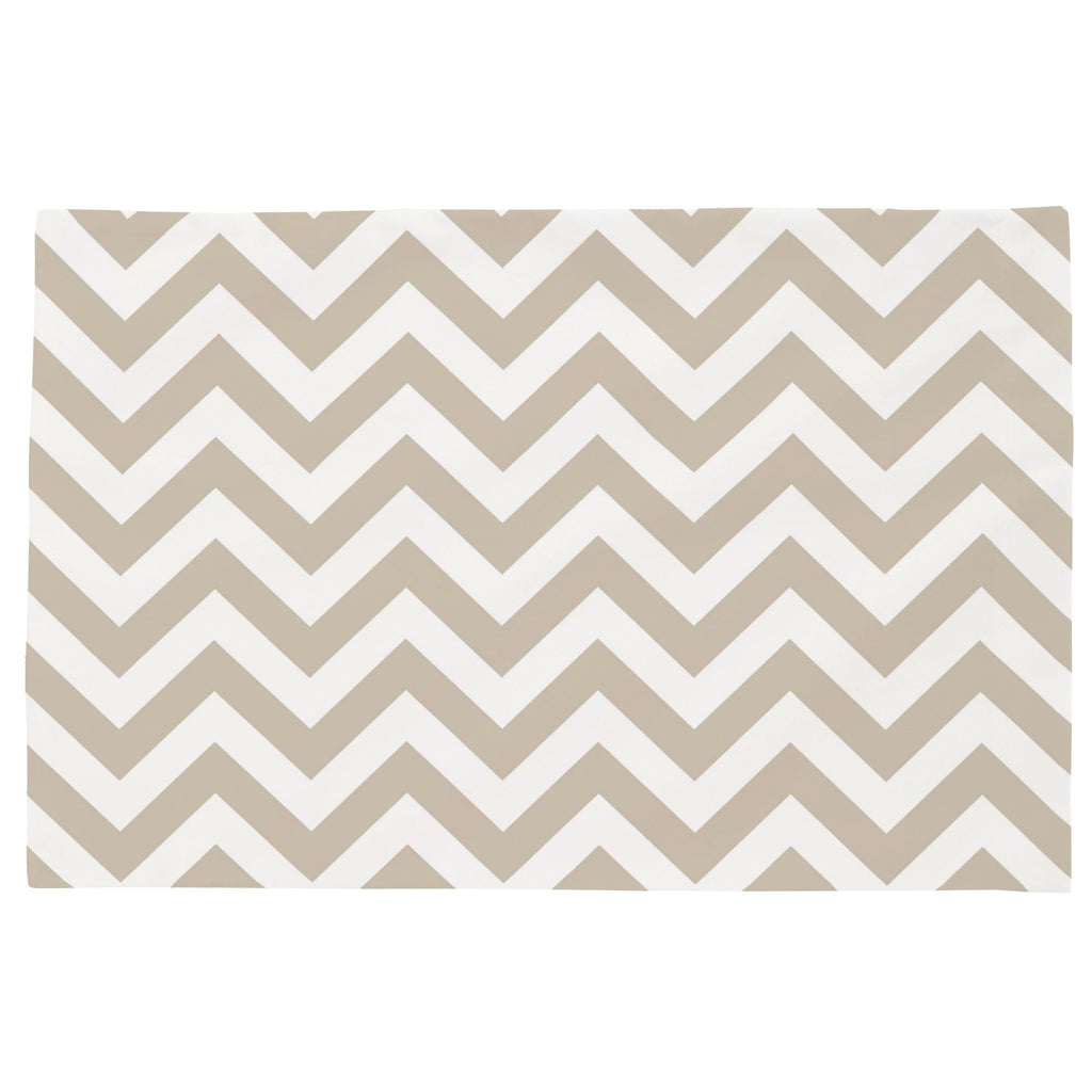 Product image for Taupe Zig Zag Toddler Pillow Case