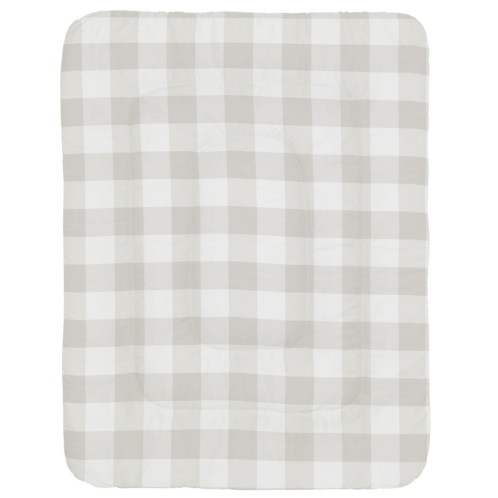 Product image for French Gray and White Buffalo Check Crib Comforter