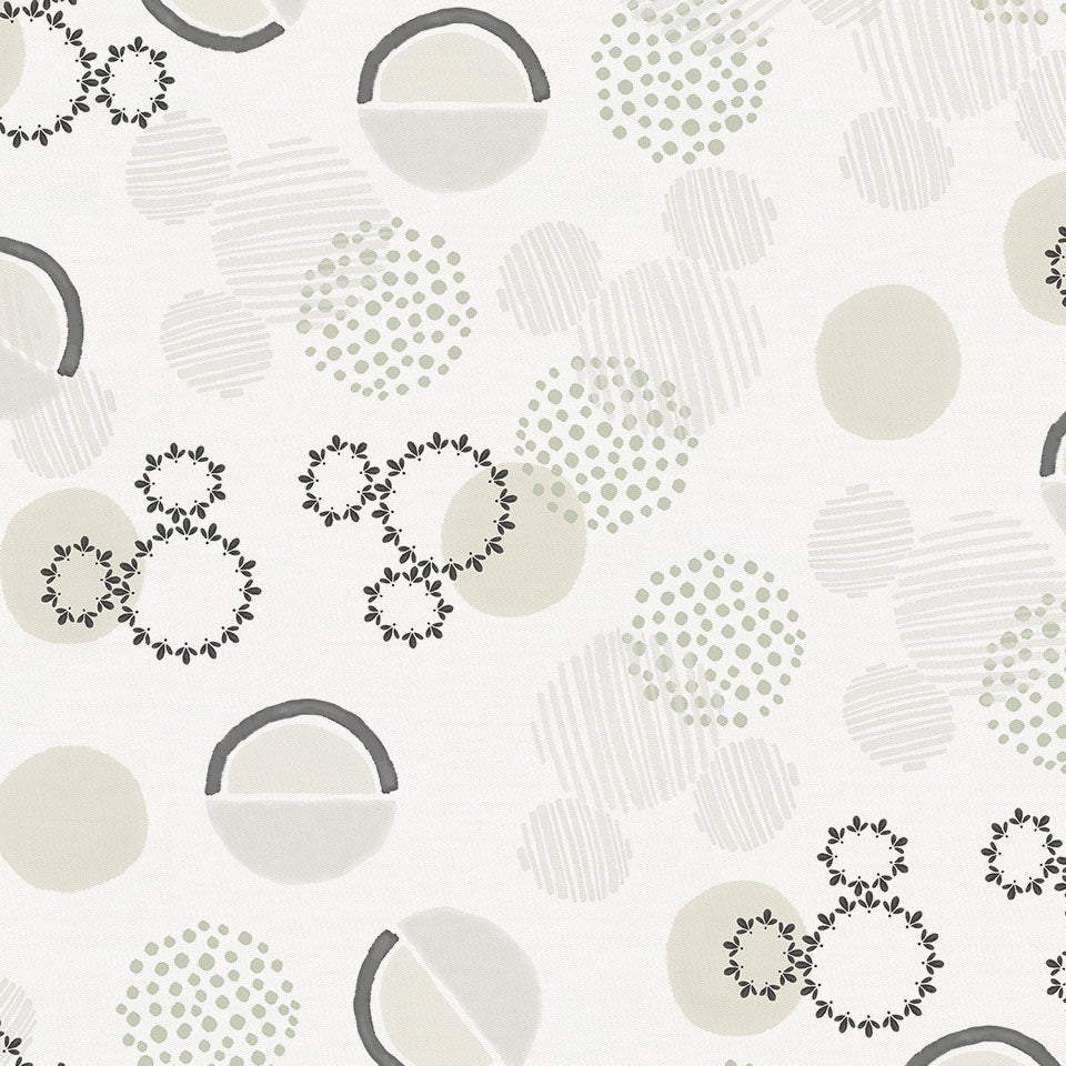 Product image for Disney© Gray Abstract Mickey Boho Fabric