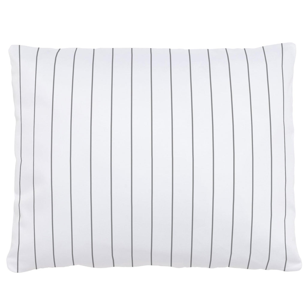 Product image for Cloud Gray Pinstripe Accent Pillow