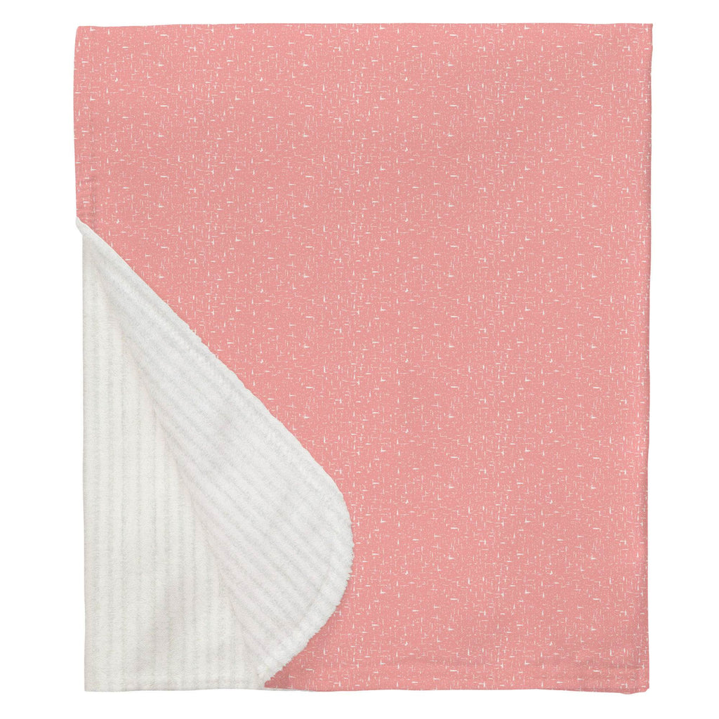 Product image for Coral Pink Heather Baby Blanket