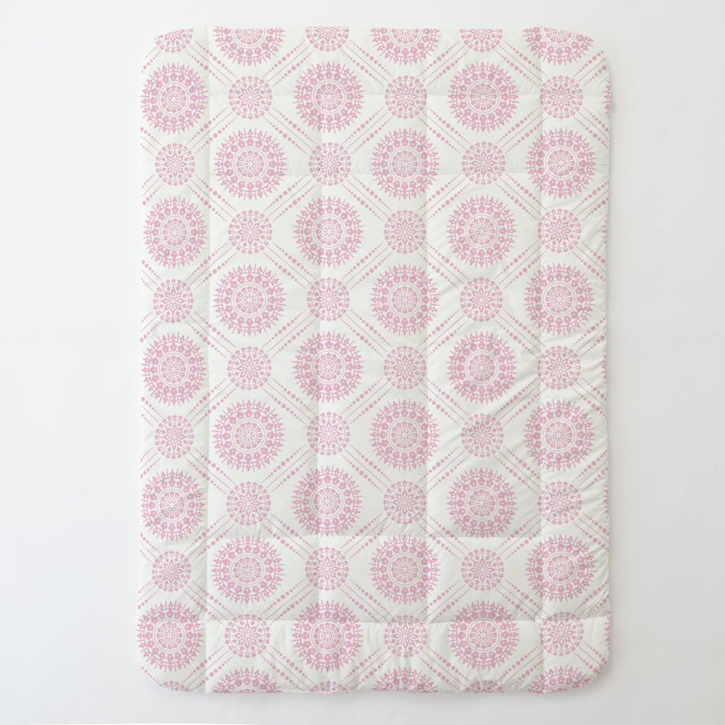 Product image for Bubblegum Pink Modern Medallion Toddler Comforter