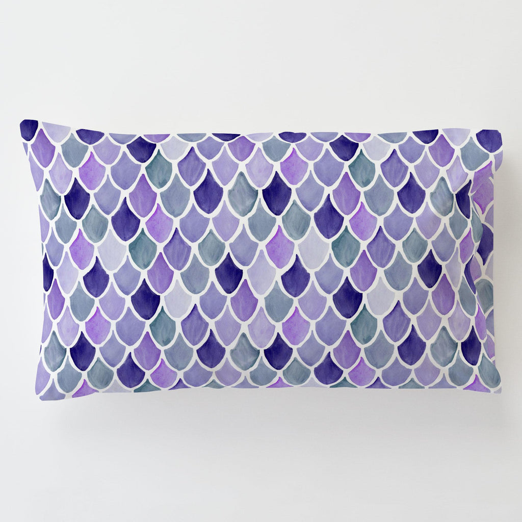 Product image for Lilac Watercolor Scales Toddler Pillow Case with Pillow Insert
