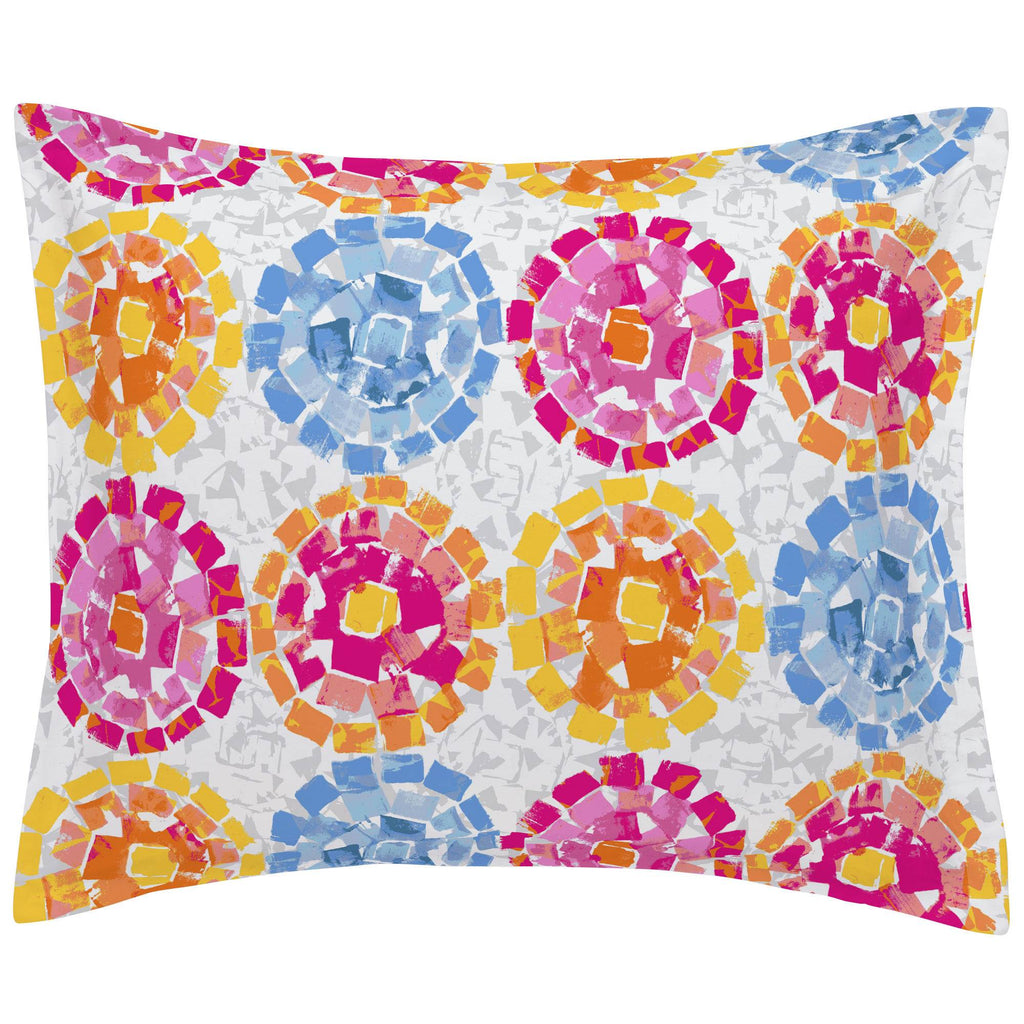 Product image for Pink and Blue Modern Mosaic Pillow Sham