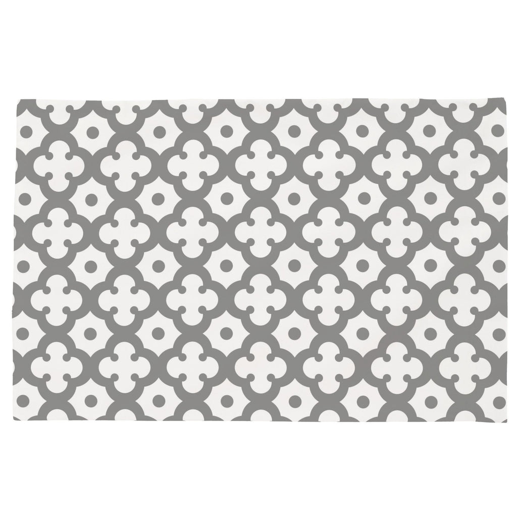 Product image for Cloud Gray Moroccan Tile Toddler Pillow Case