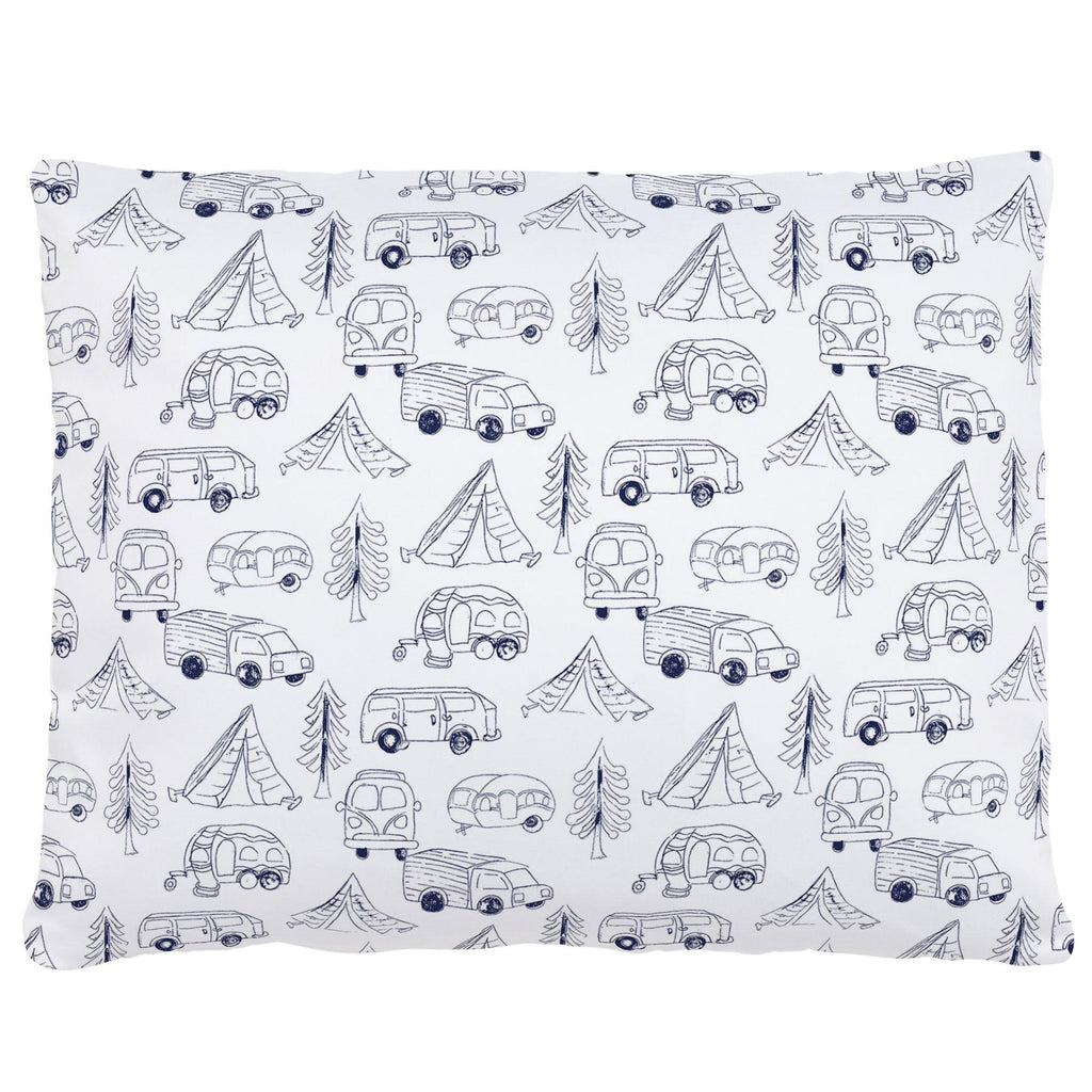 Product image for Navy Little Campers Accent Pillow