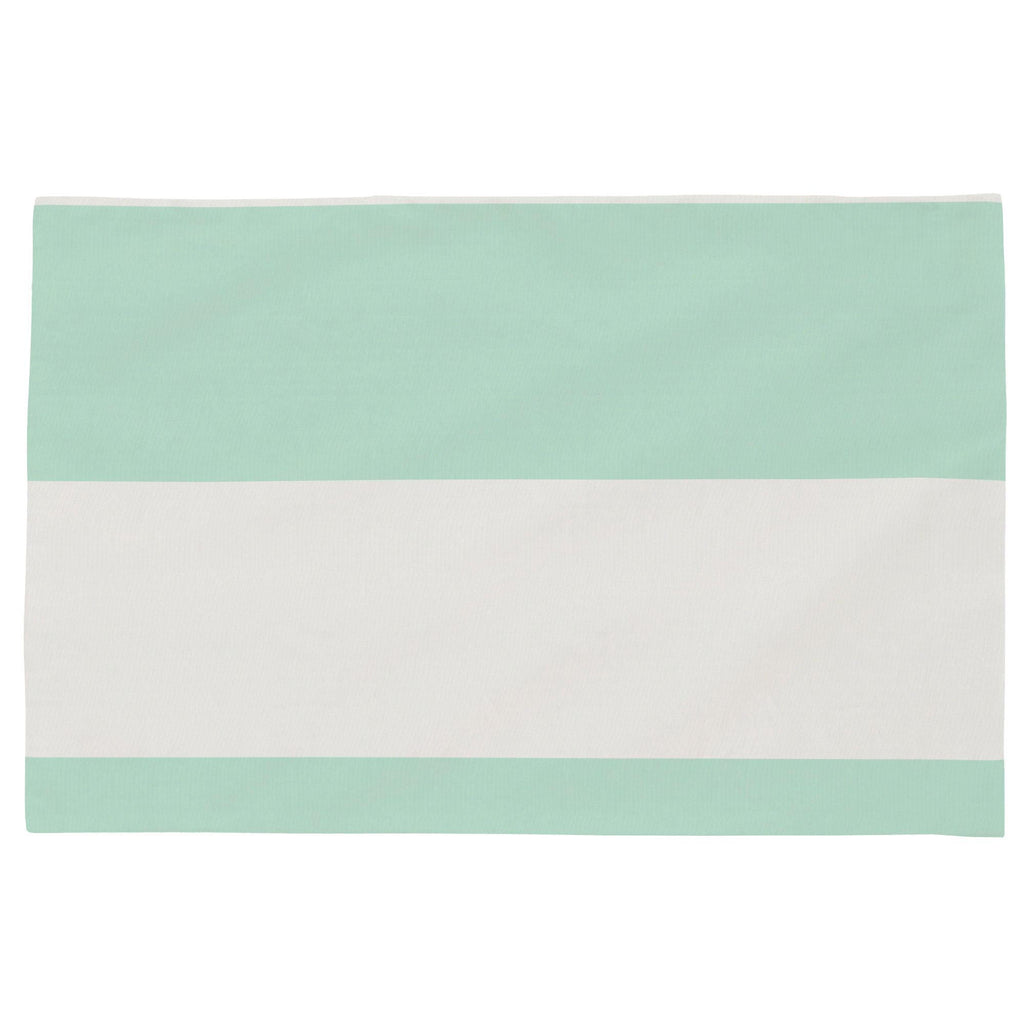 Product image for Icy Mint Horizontal Stripe Toddler Pillow Case