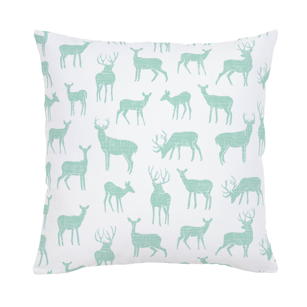 Product image for Mint Deer Throw Pillow