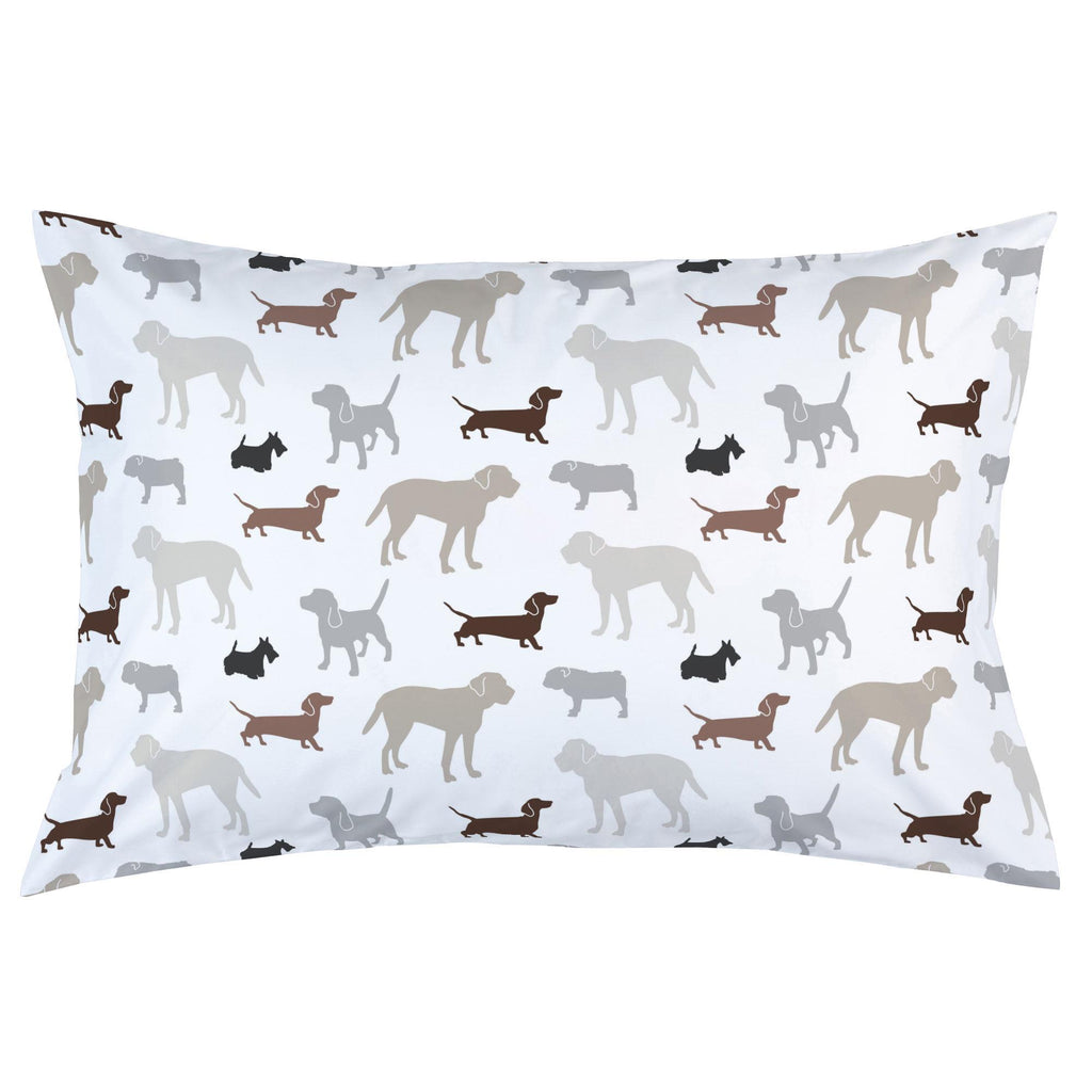 Product image for Brown and Gray Dogs Pillow Case