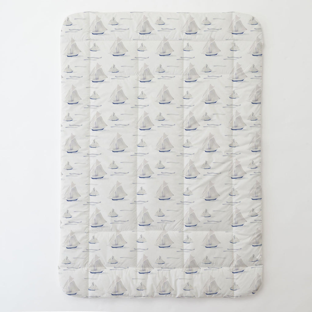 Product image for Watercolor Sailboats Toddler Comforter