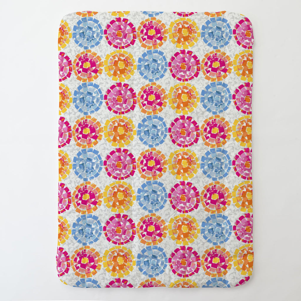 Product image for Pink and Blue Modern Mosaic Toddler Comforter