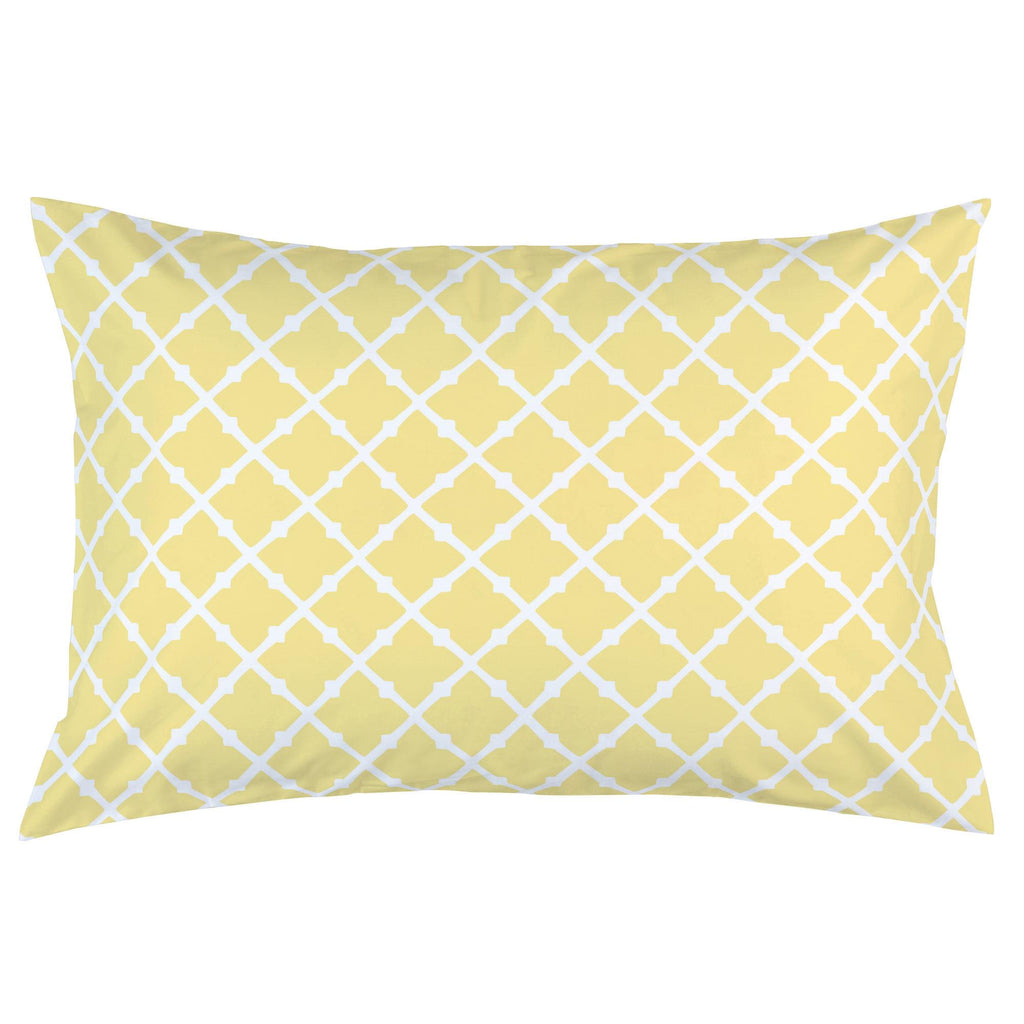 Product image for Banana Yellow Lattice Pillow Case