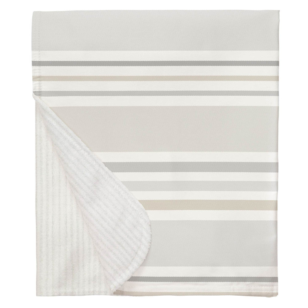 Product image for French Gray and Taupe Summer Stripe Baby Blanket