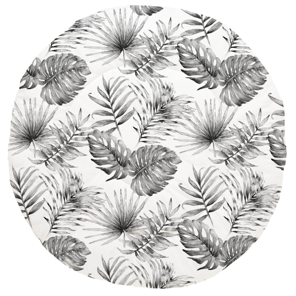 Product image for Gray Painted Tropical Baby Play Mat