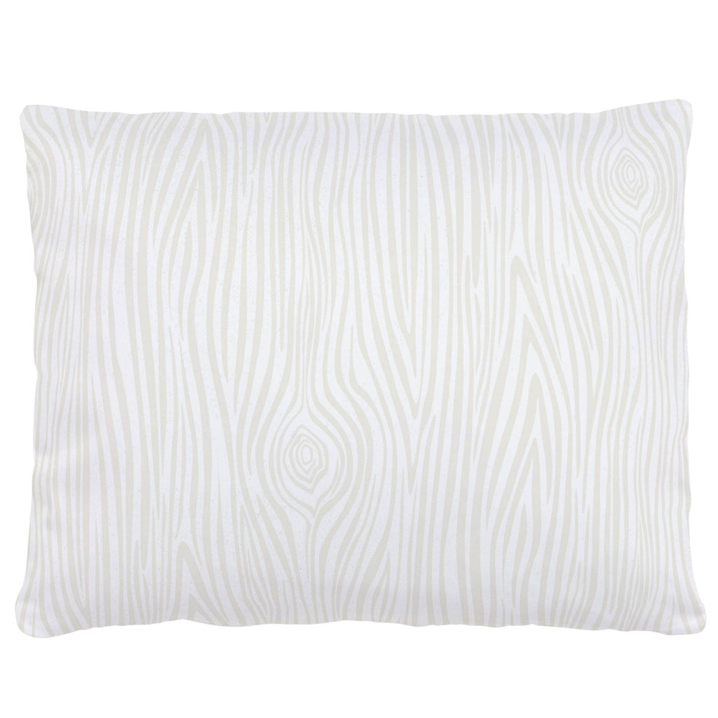 Product image for Ivory Woodgrain Accent Pillow