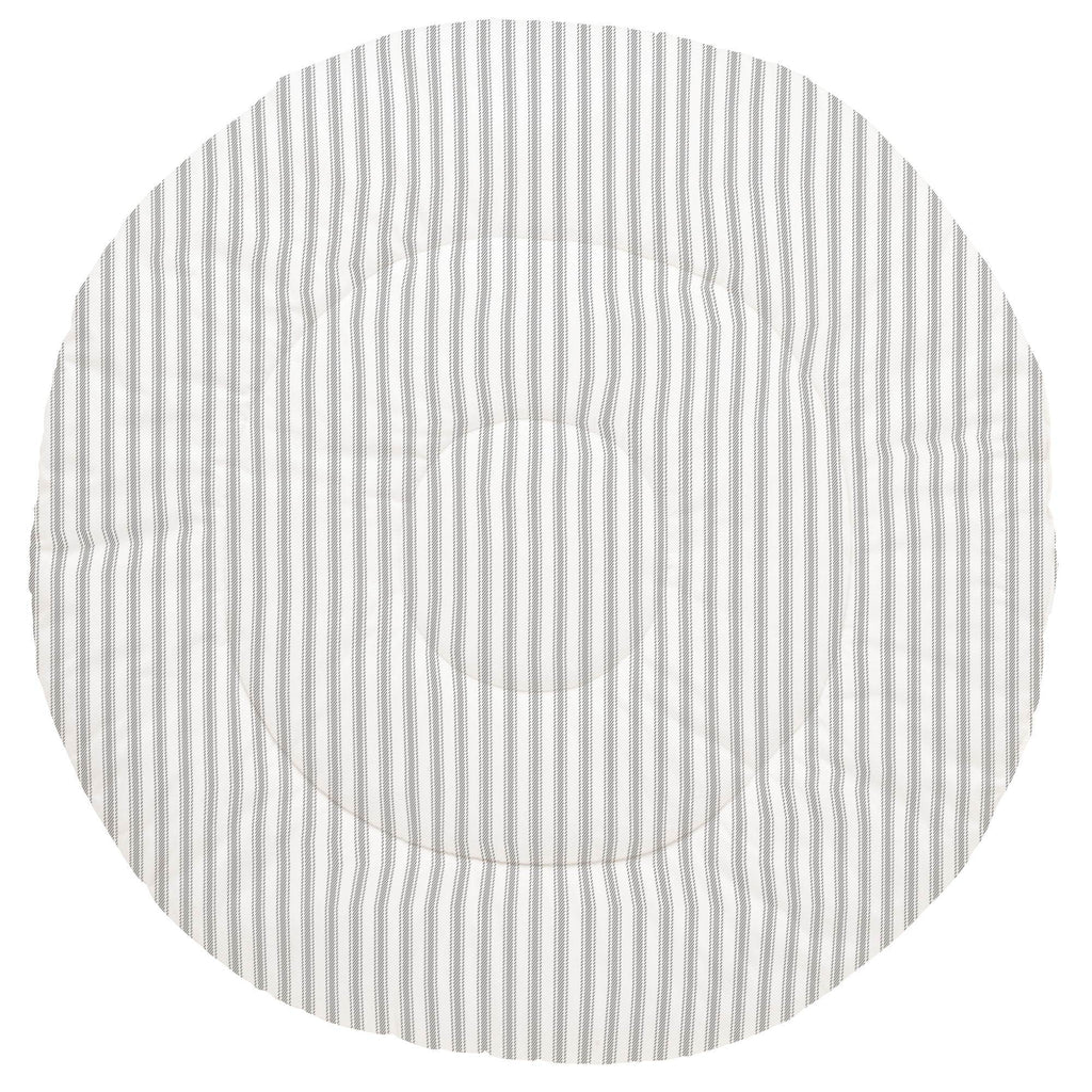 Product image for Cloud Gray Ticking Stripe Baby Play Mat