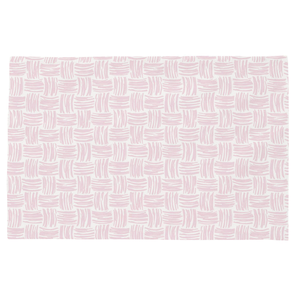Product image for Pink Basket Weave Toddler Pillow Case