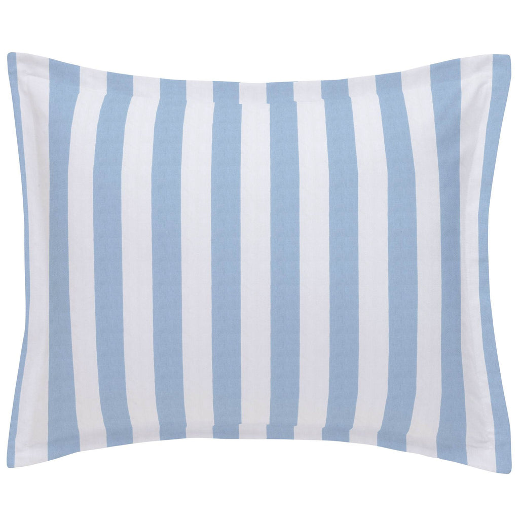 Product image for Blue Giddy Stripe Pillow Sham