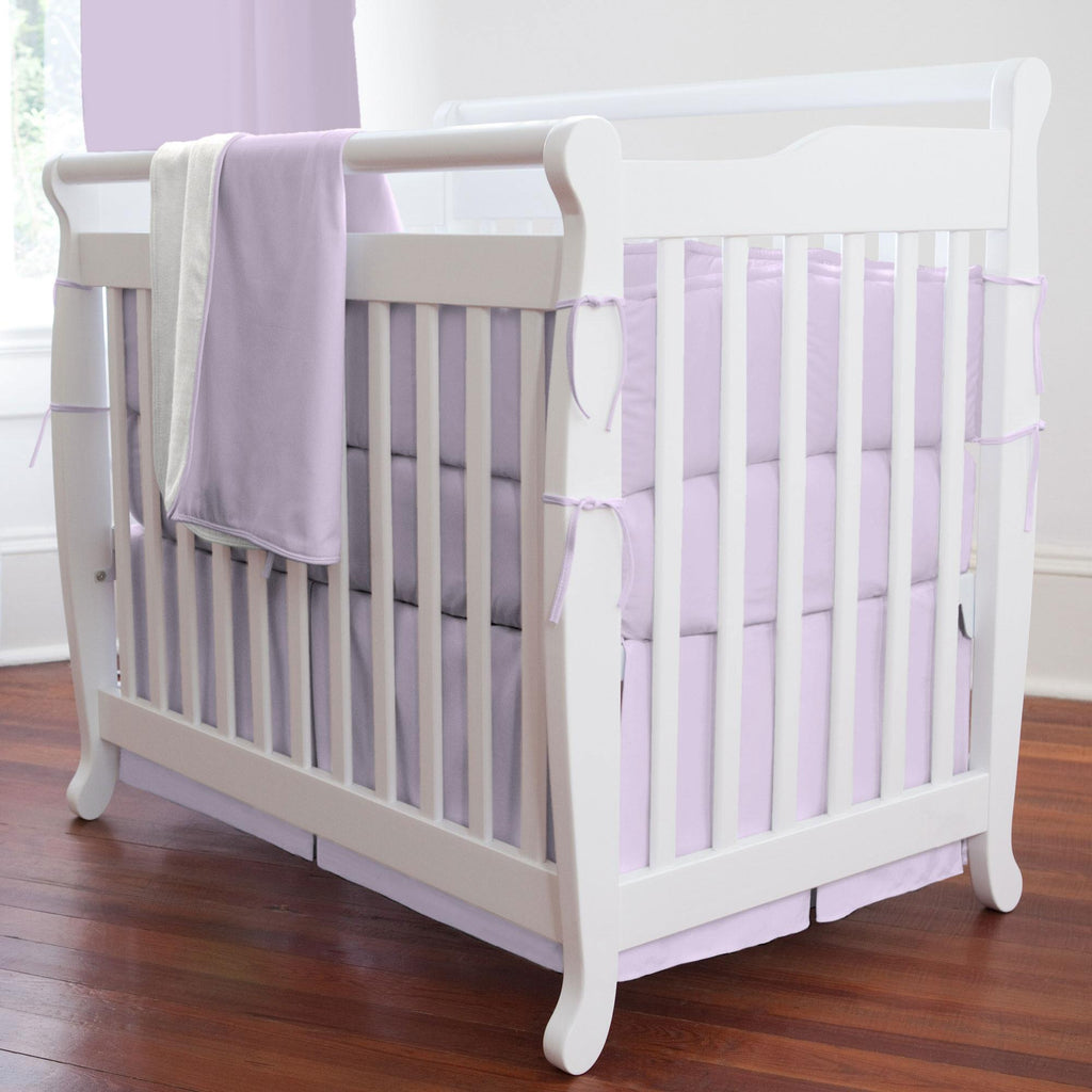 Product image for Solid Lilac Mini Crib Bumper