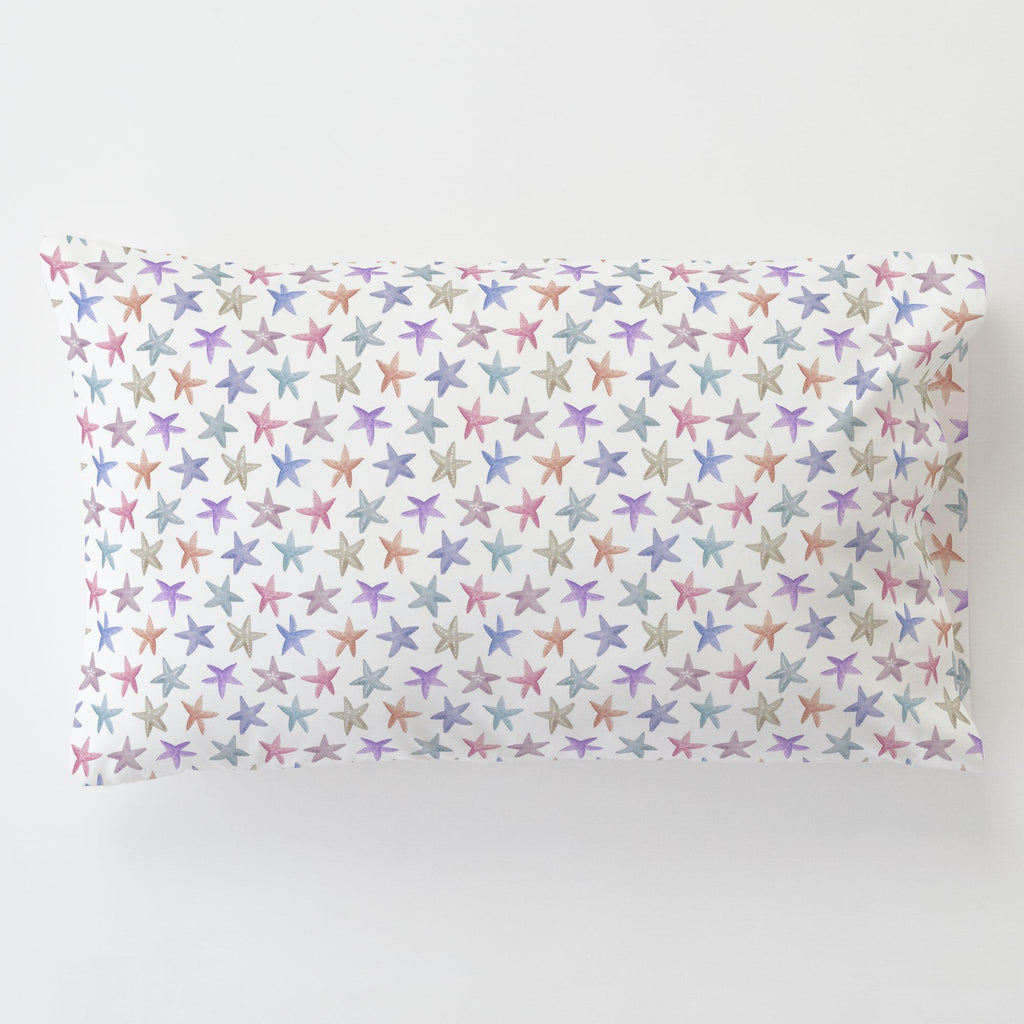 Product image for Watercolor Starfish Toddler Pillow Case with Pillow Insert