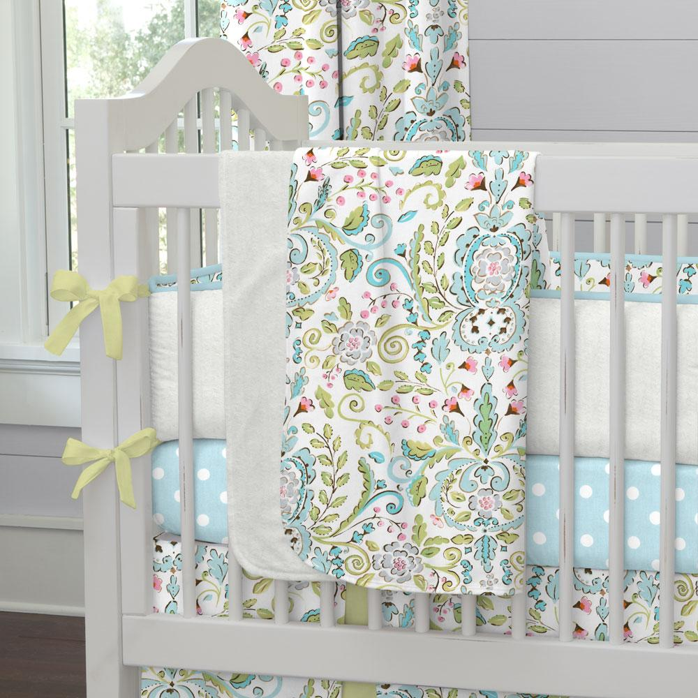 Product image for Love Bird Damask Baby Blanket