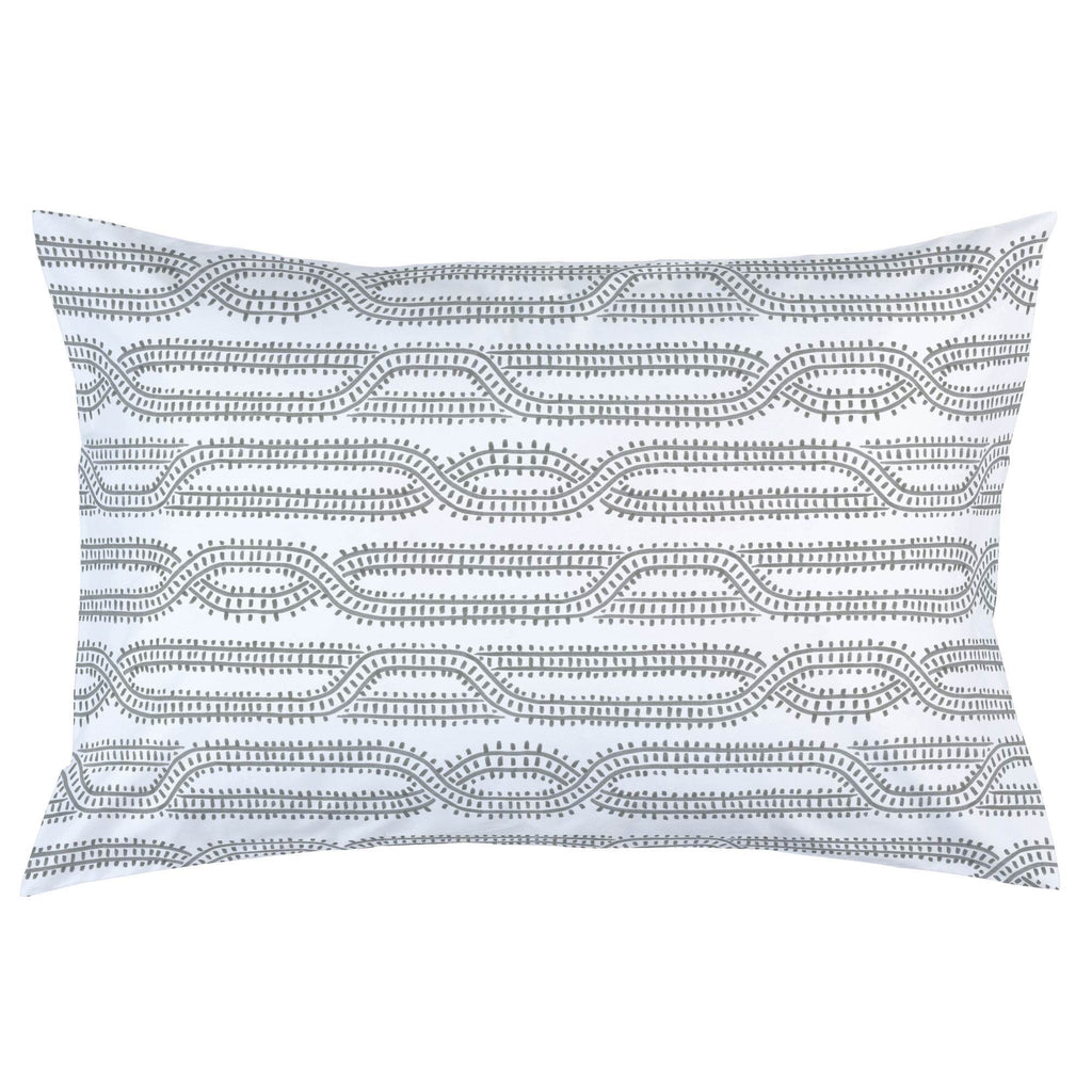 Product image for Gray Train Tracks Pillow Case