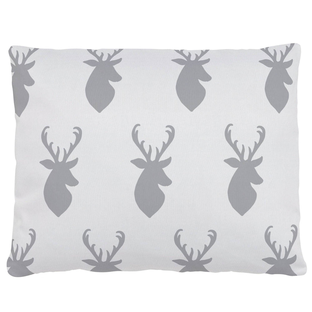 Product image for Silver Gray Deer Head Accent Pillow