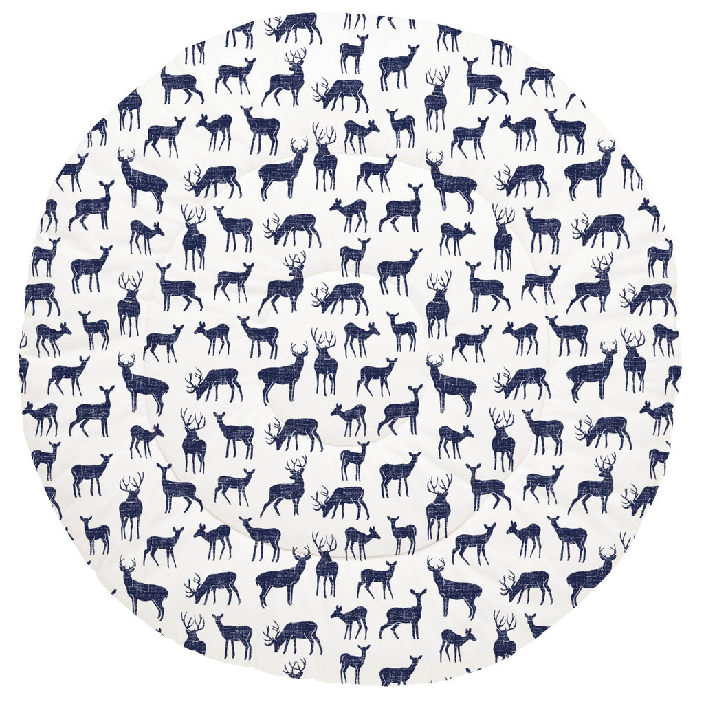 Product image for Windsor Navy Deer Baby Play Mat
