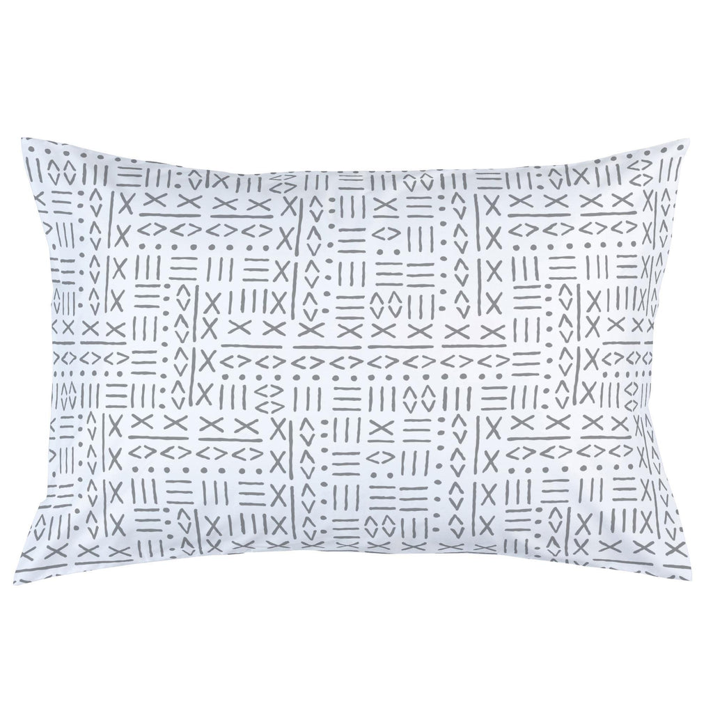 Product image for Cloud Gray Mudcloth Pillow Case