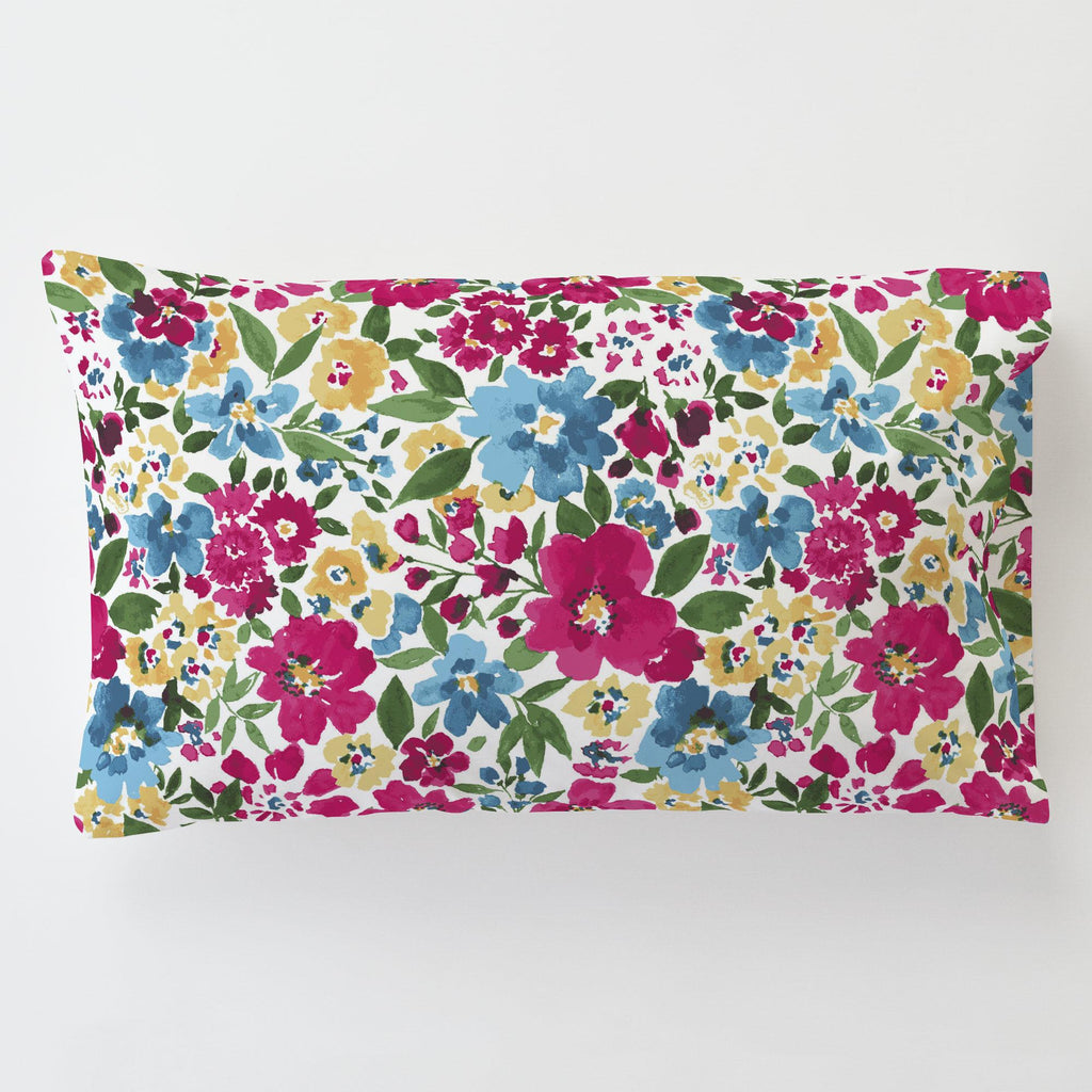 Product image for Prairie Floral Toddler Pillow Case with Pillow Insert