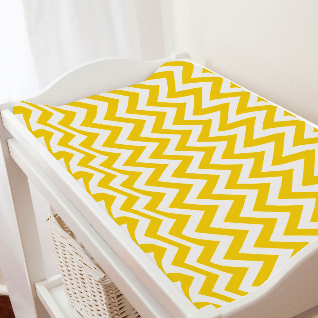 Product image for Yellow Zig Zag Changing Pad Cover