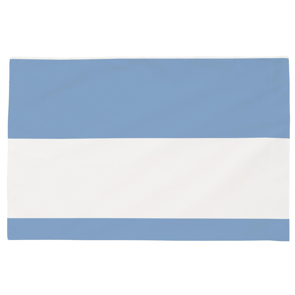 Product image for Sky Blue Horizontal Stripe Toddler Pillow Case