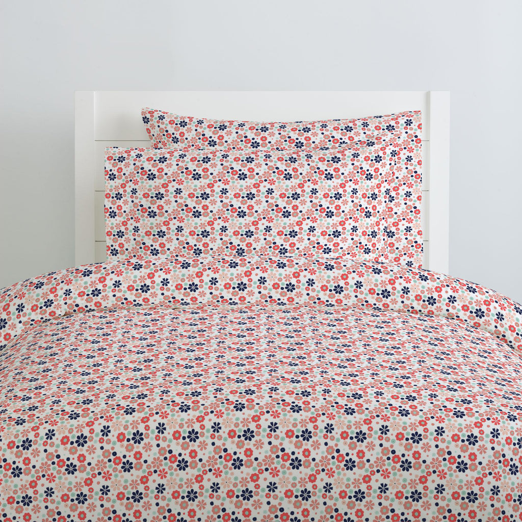 Product image for Coral Spring Flowers Duvet Cover