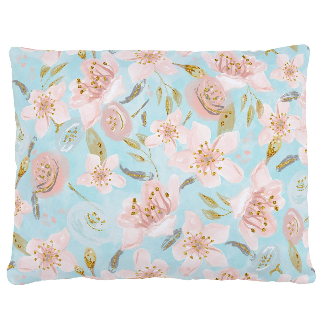 Product image for Aqua and Pink Hawaiian Floral Accent Pillow