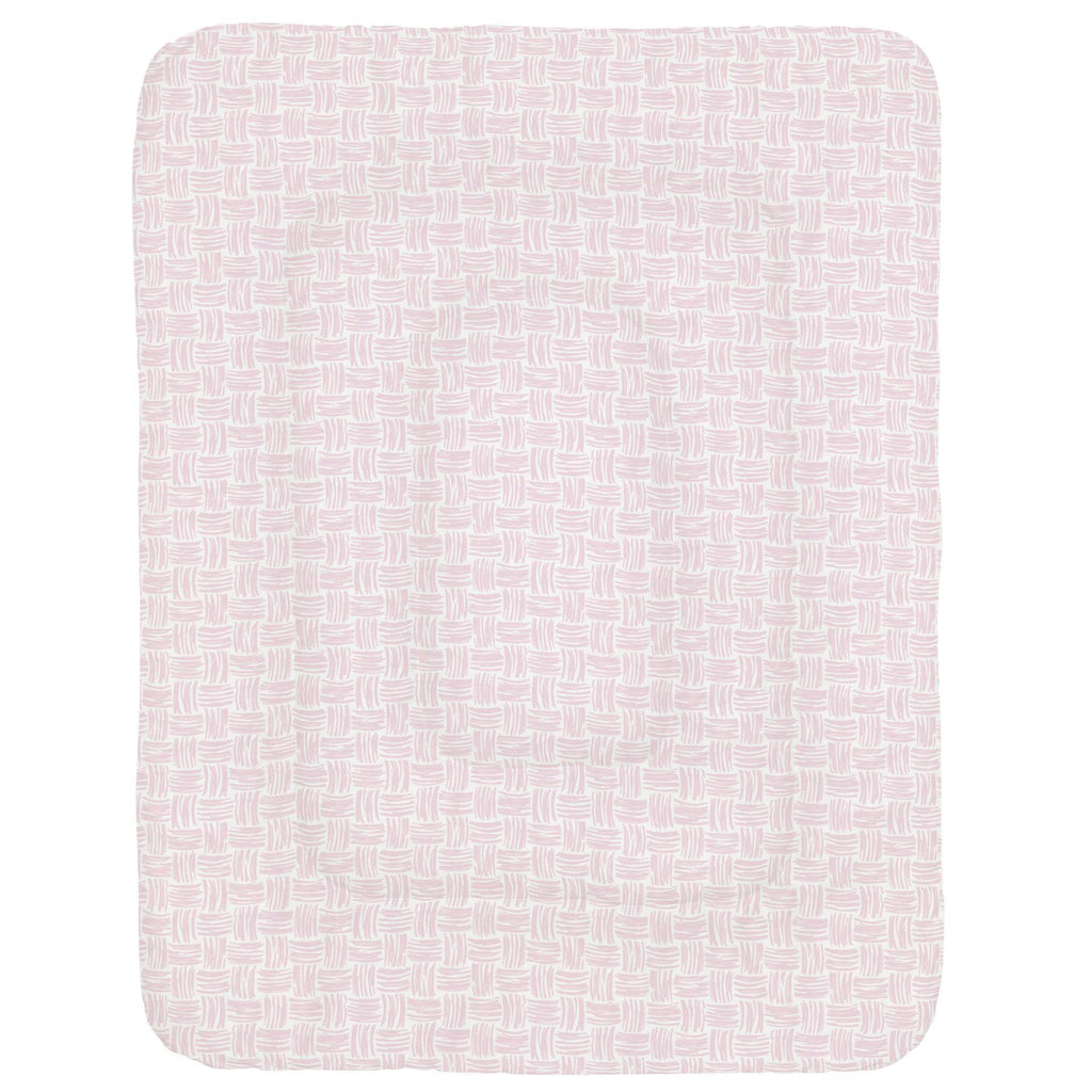 Product image for Pink Basket Weave Crib Comforter