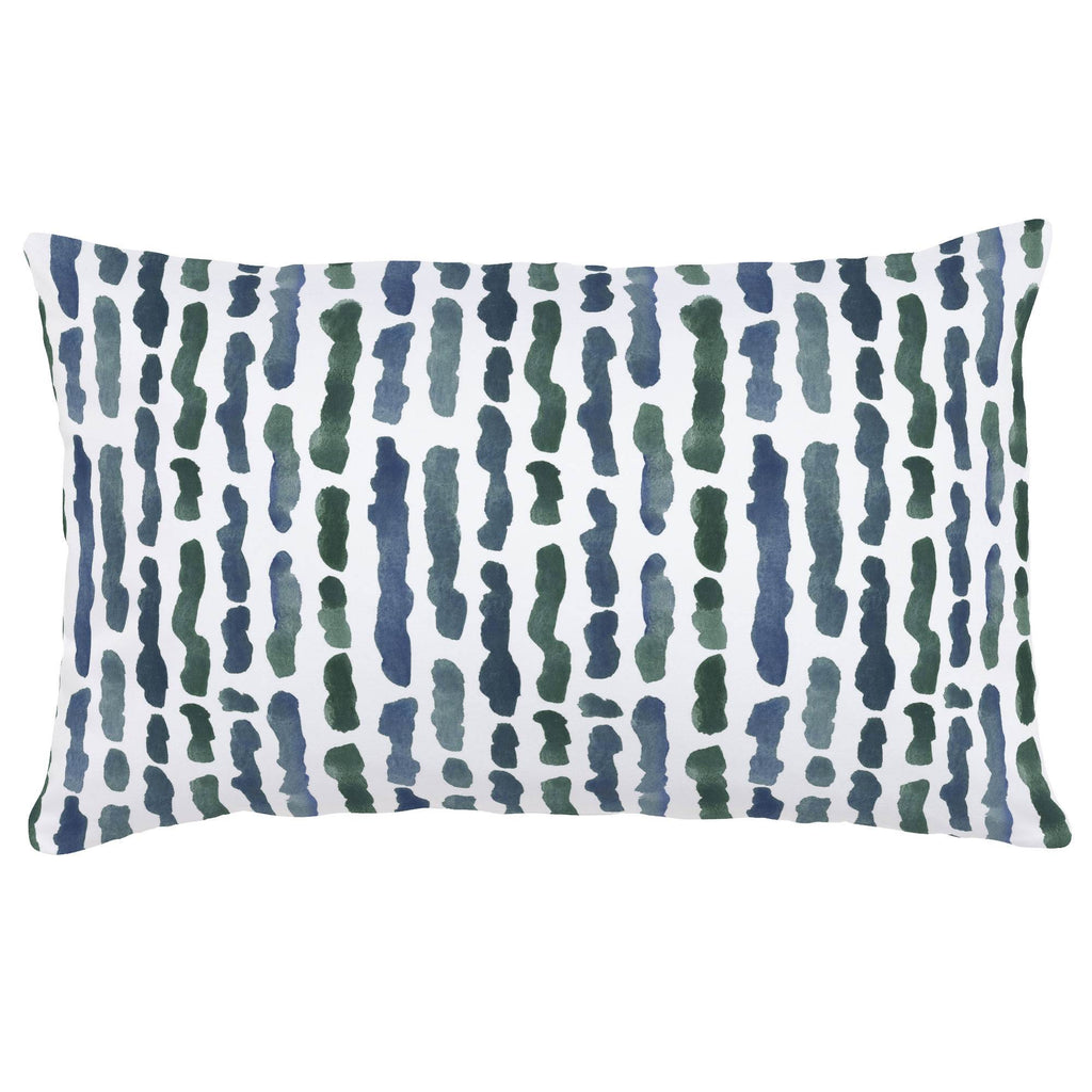 Product image for Sea Green Stripe Lumbar Pillow