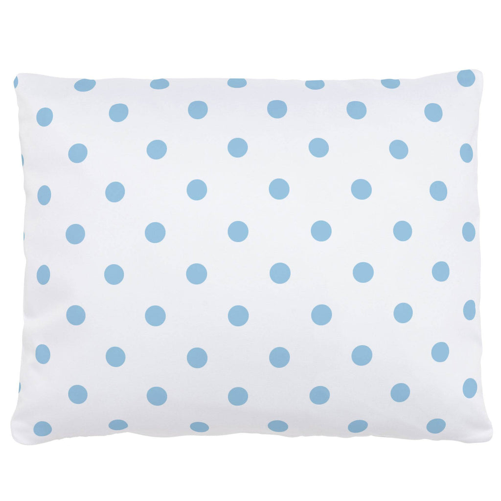 Product image for White and Lake Blue Dot Accent Pillow