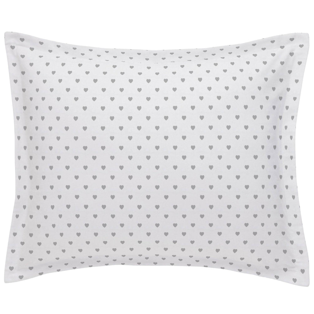 Product image for Gray Hearts Pillow Sham