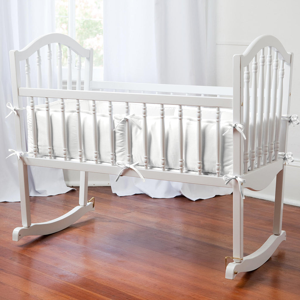 Product image for Solid Antique White Cradle Bumper
