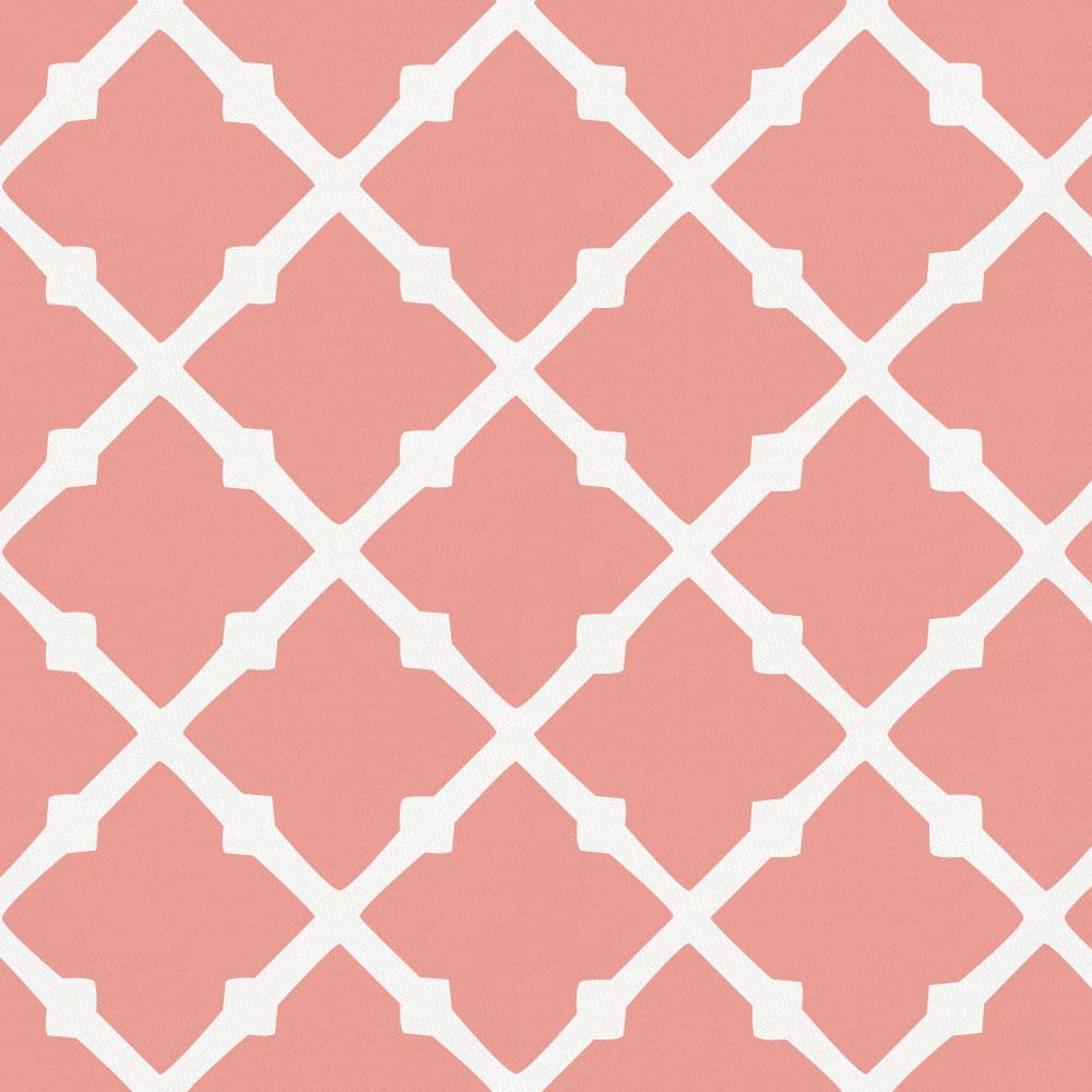 Product image for Light Coral Lattice Cradle Sheet
