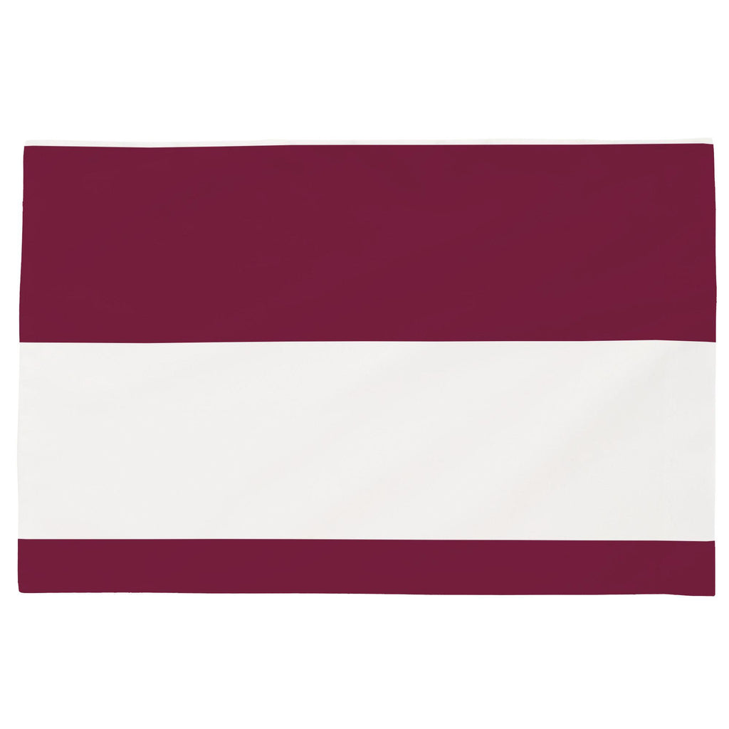 Product image for Maroon Horizontal Stripe Toddler Pillow Case