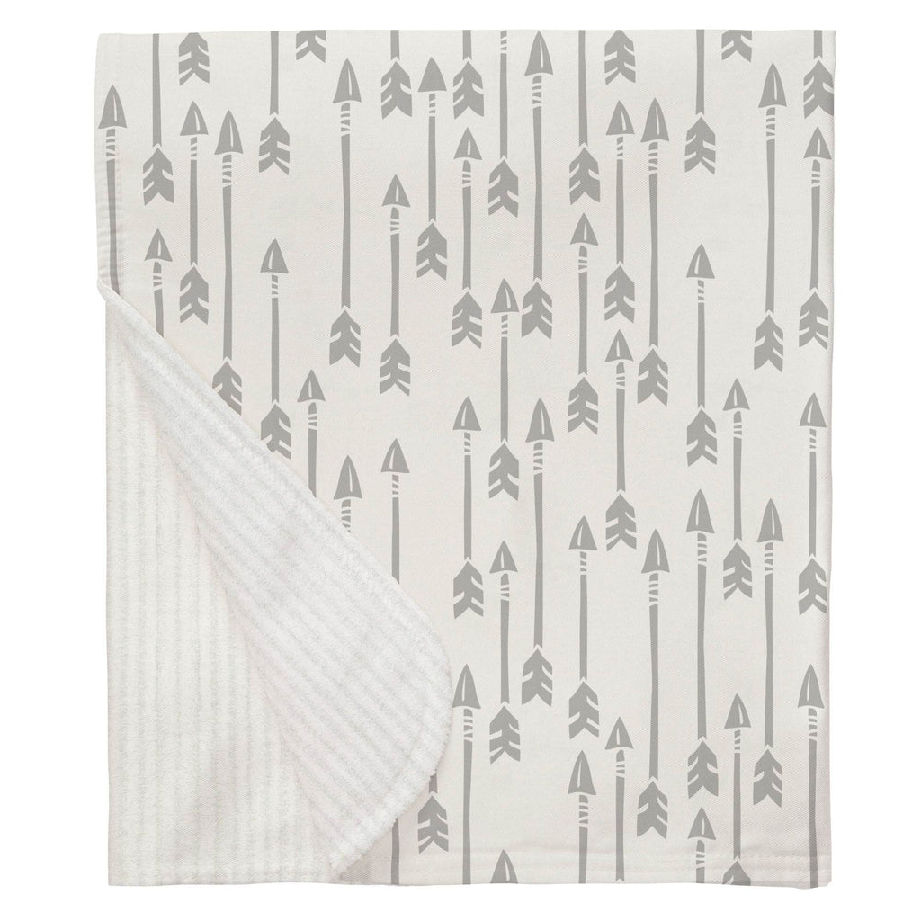 Product image for Silver Gray Flying Arrow Baby Blanket