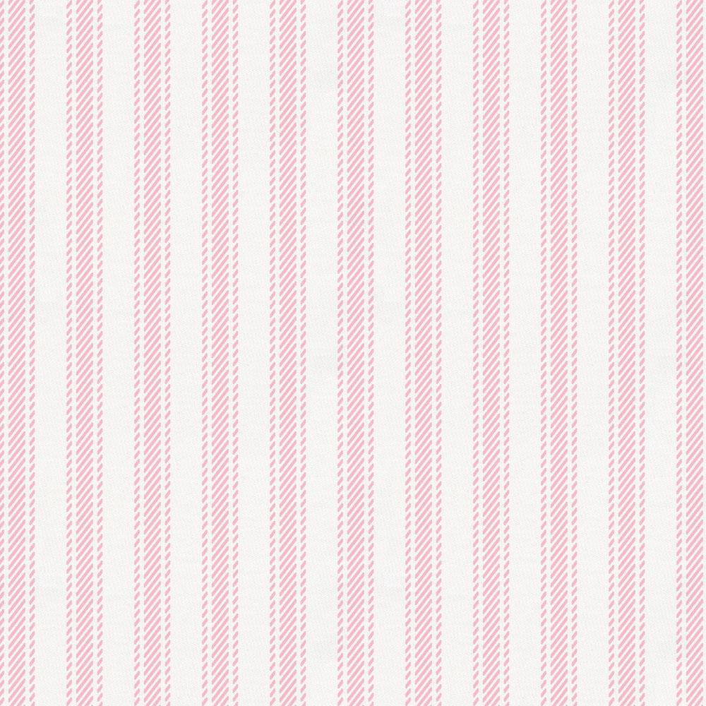 Product image for Bubblegum Pink Ticking Stripe Fabric