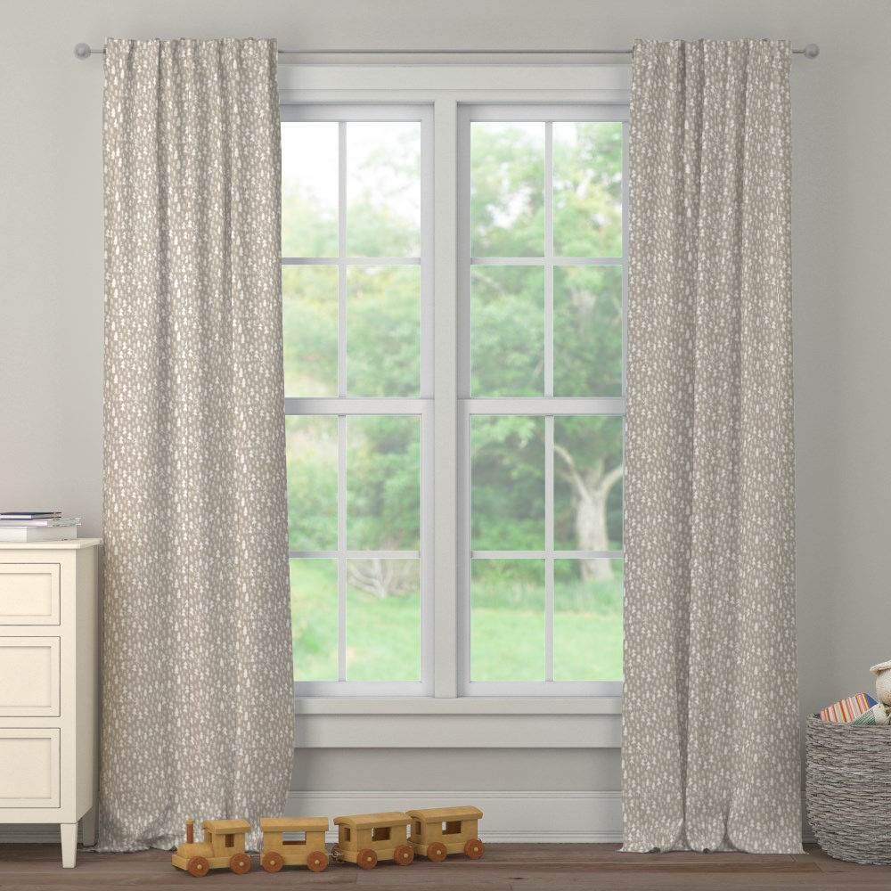 Product image for Taupe Baby Woodland Trees Drape Panel