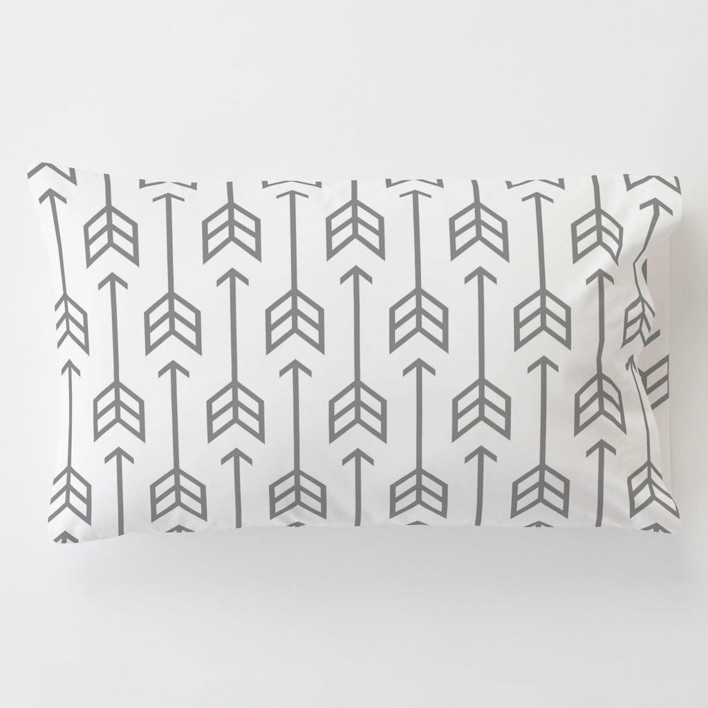 Product image for Cloud Gray Arrow Toddler Pillow Case with Pillow Insert