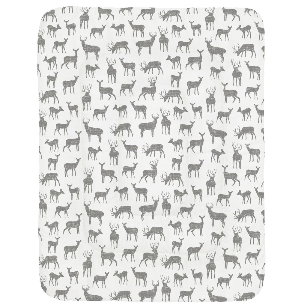 Product image for Cloud Gray Deer Crib Comforter