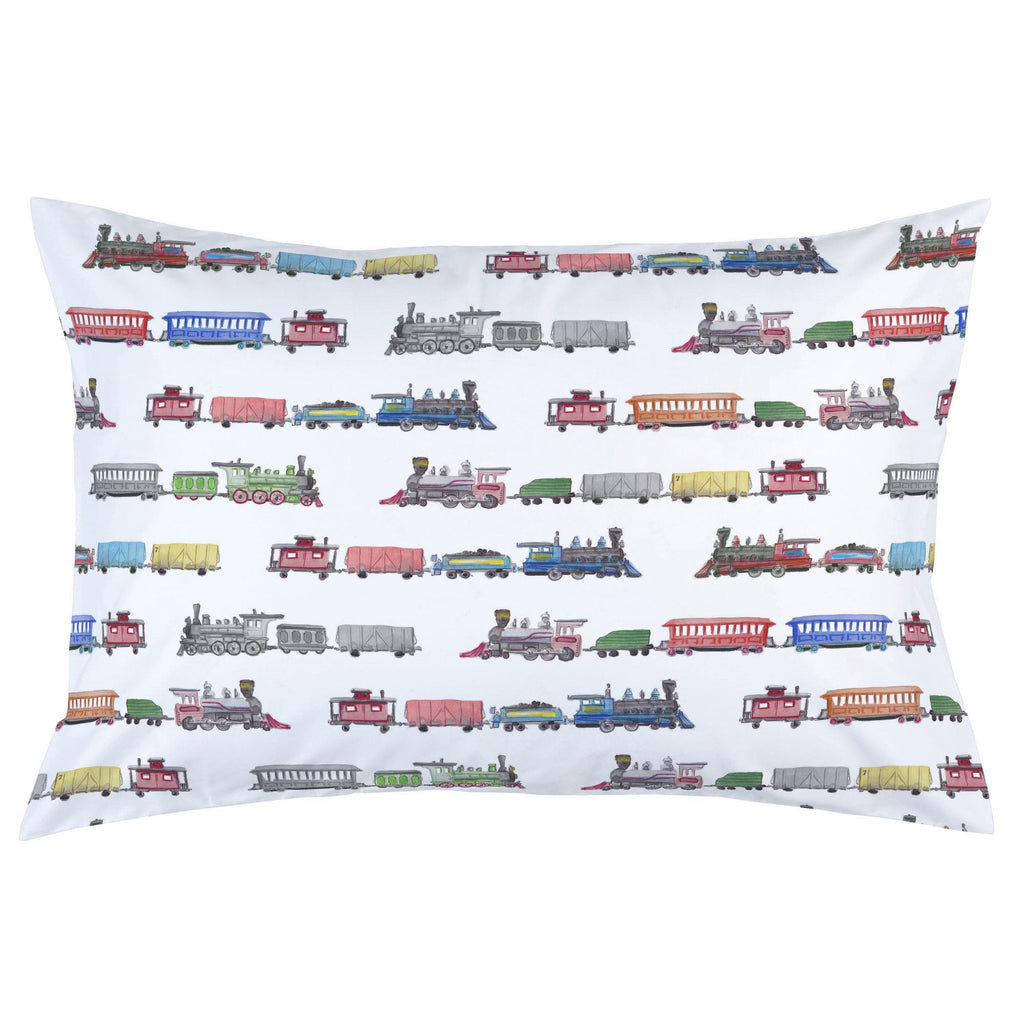 Product image for Watercolor Trains Pillow Case