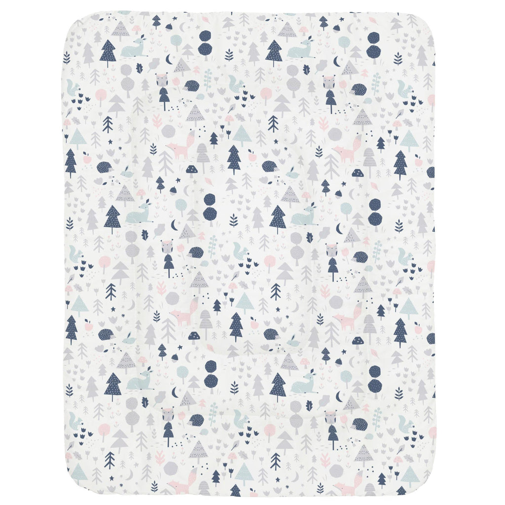 Product image for Gray and Pink Baby Woodland Crib Comforter