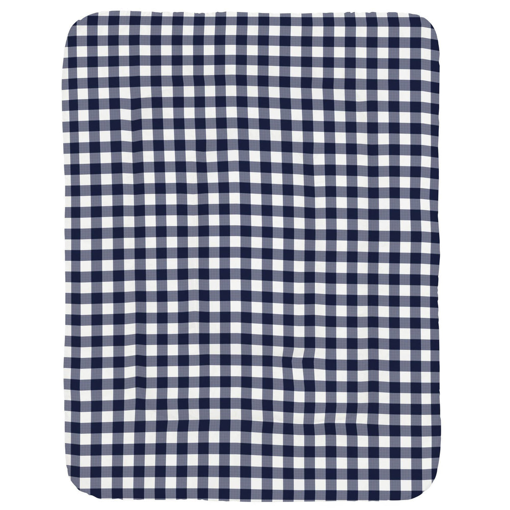 Product image for Windsor Navy Gingham Crib Comforter